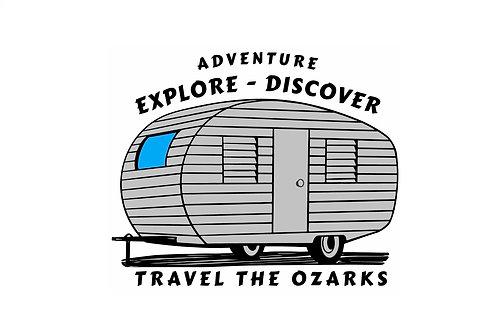 Travel The Ozarks T-Shirt - Camper
