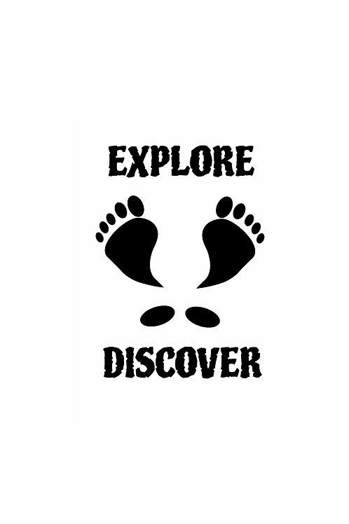 "Travel The Ozarks ""Feet Logo""   Vinyl Window Decal"