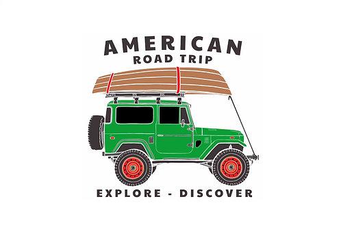 "American Road Trip ""Land Cruiser"" Magnet"