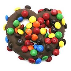 M&M and Milk Chocolate Covered Pretzel