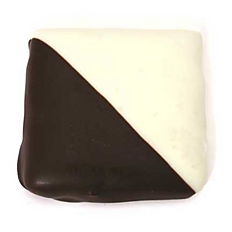 Graham Cracker covered in White and Dark Chocolate