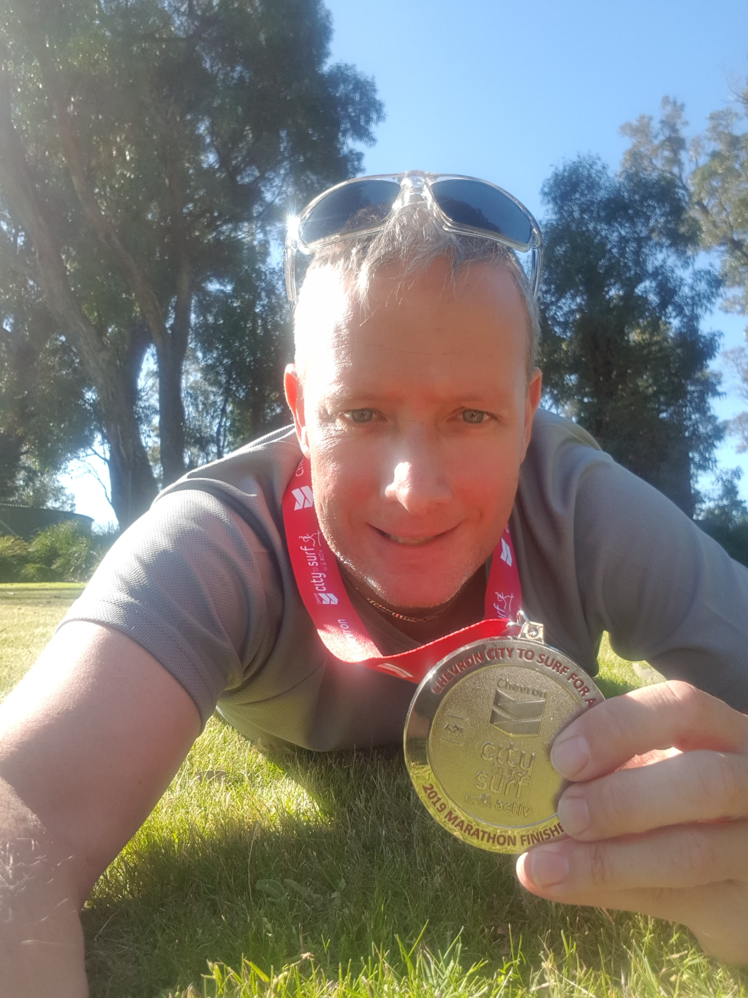 runnovation medallist with his medal