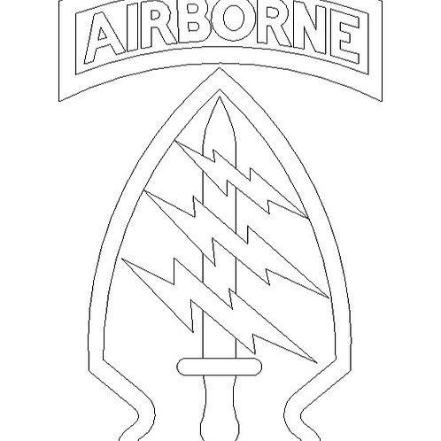 .DXF file for engraving - AIRBORNE