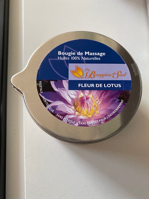 Bougie de massage Fleur de lotus