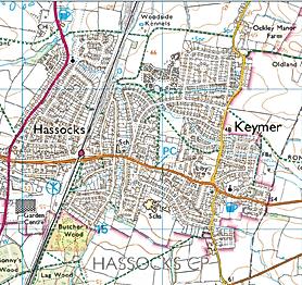 Leaflets distribution Sussex,  Hassocks
