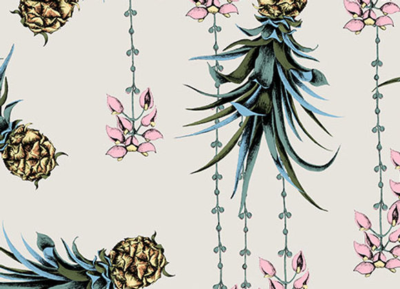 Pineapple and Petals Fabric - Cotton