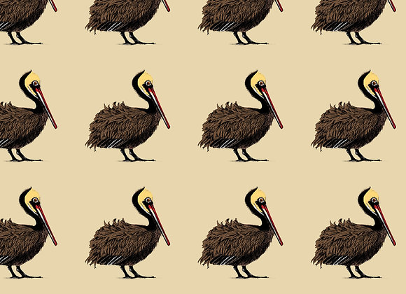 Pelican Parade Fabric - Linen