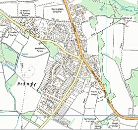 leaflets distribution  Sussex, Ardingly