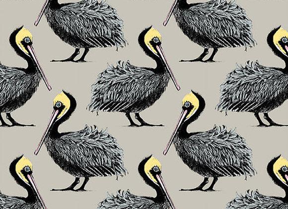Pelican Linen Fabric