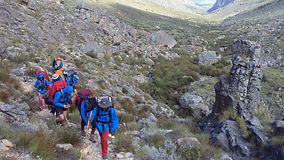Rock climbing Table Mountain, adventures in South Africa