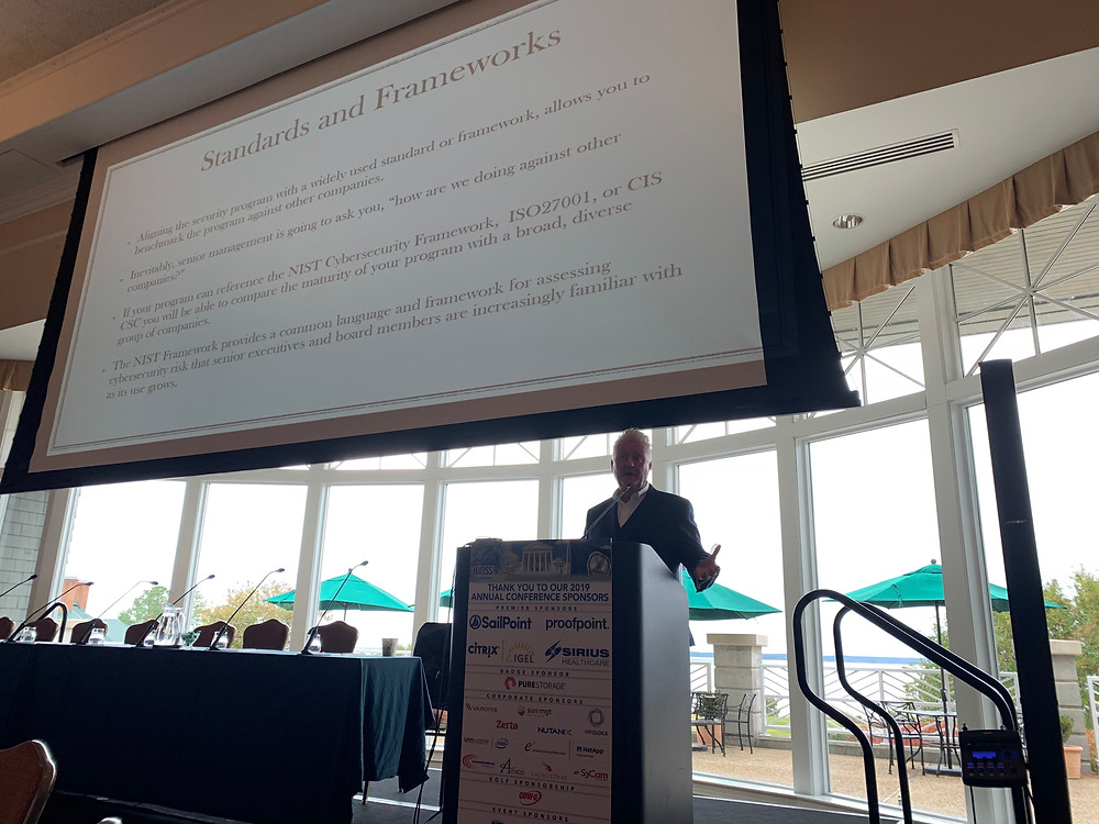 Richard Staynings presents to the VA HIMSS Annual Conference this week