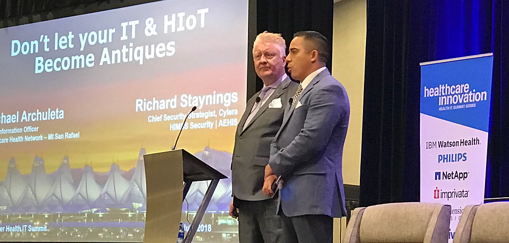 Richard Staynings and Michael Archuleta address the Rocky Mountain Health IT Summit today.
