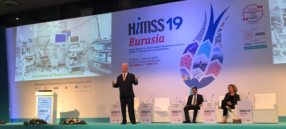 Cylera's Richard Staynings presents to the HIMSS Eurasia Health IT Conference and Exhibition
