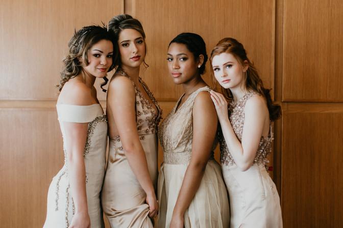 Photography: Tonya Hjort Photo Models: Mary Reed, Tia Lang, Dunia Francois, Sadie Isaacs MUA: Jillian Maria Makeup MUA Assist: Makeup by Pa Da Hair: Heidi Edwards