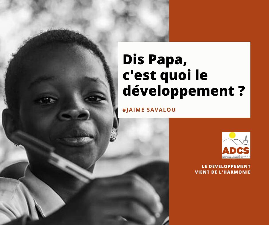 Jeune écolière au Bénin - ADCS
