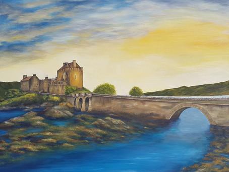 """New painting by Susanne Klimt - the world famous """"Eilean Donan Castle - Scotland"""""""