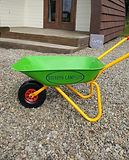 Personalised wheelbarrows for Dolbryn campite