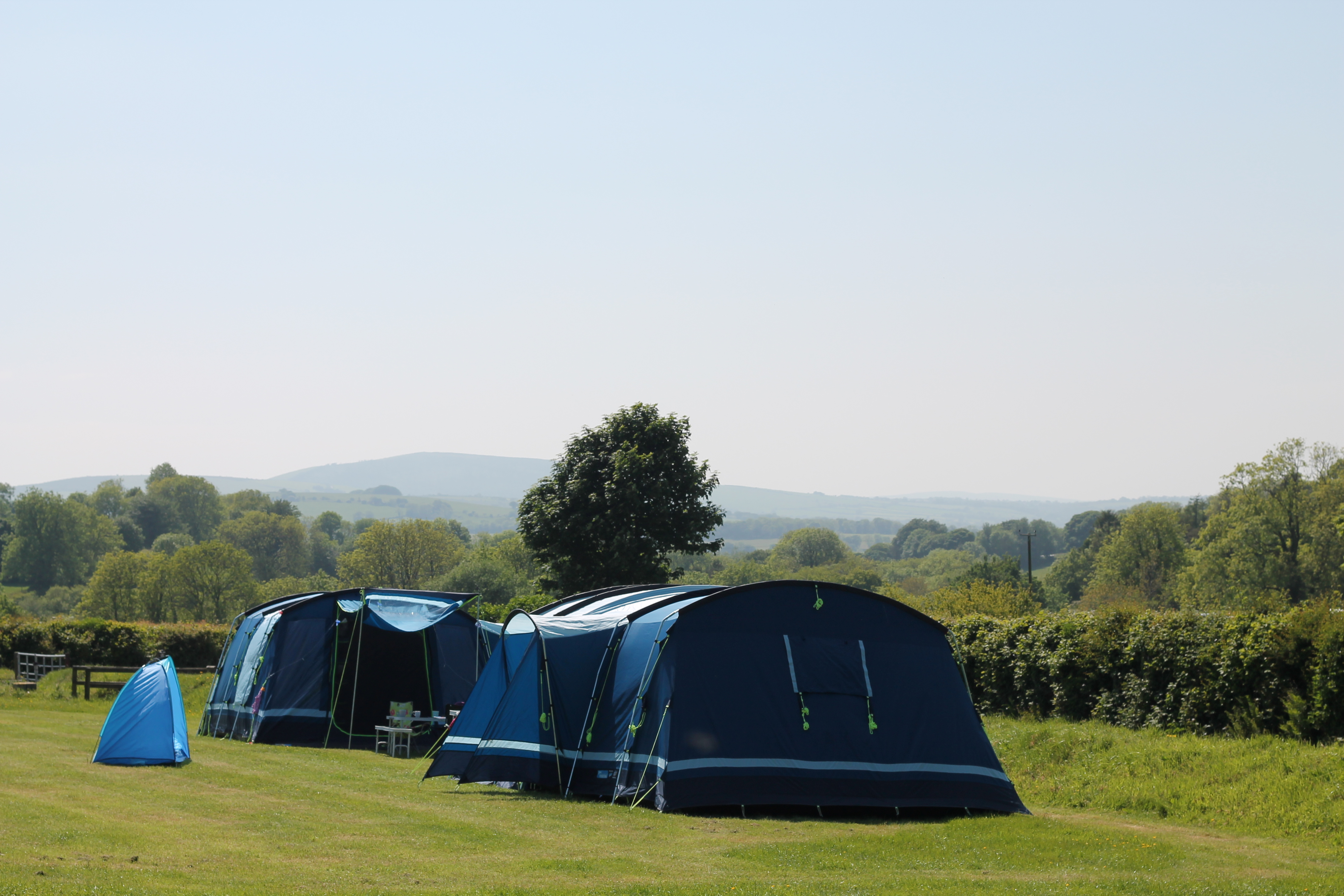 Family campsite in West Wales