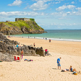 Tenby Castle and Beach