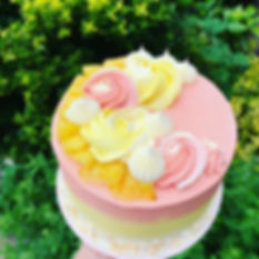 Pinacolada birthday cake