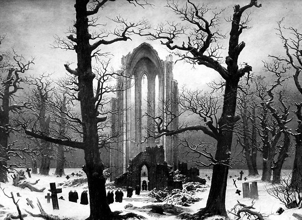 Die Winterreise ca. 1827 by Caspar David Friederich