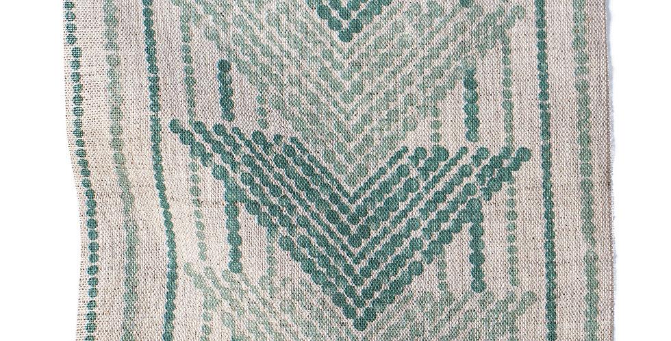 JASIRI GREEN - NATURAL LINEN