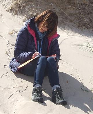 Writing on the beach.JPG