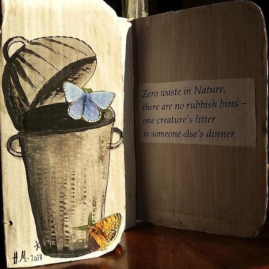 Zero Waste Nature 2 3D poem Helen Moore.