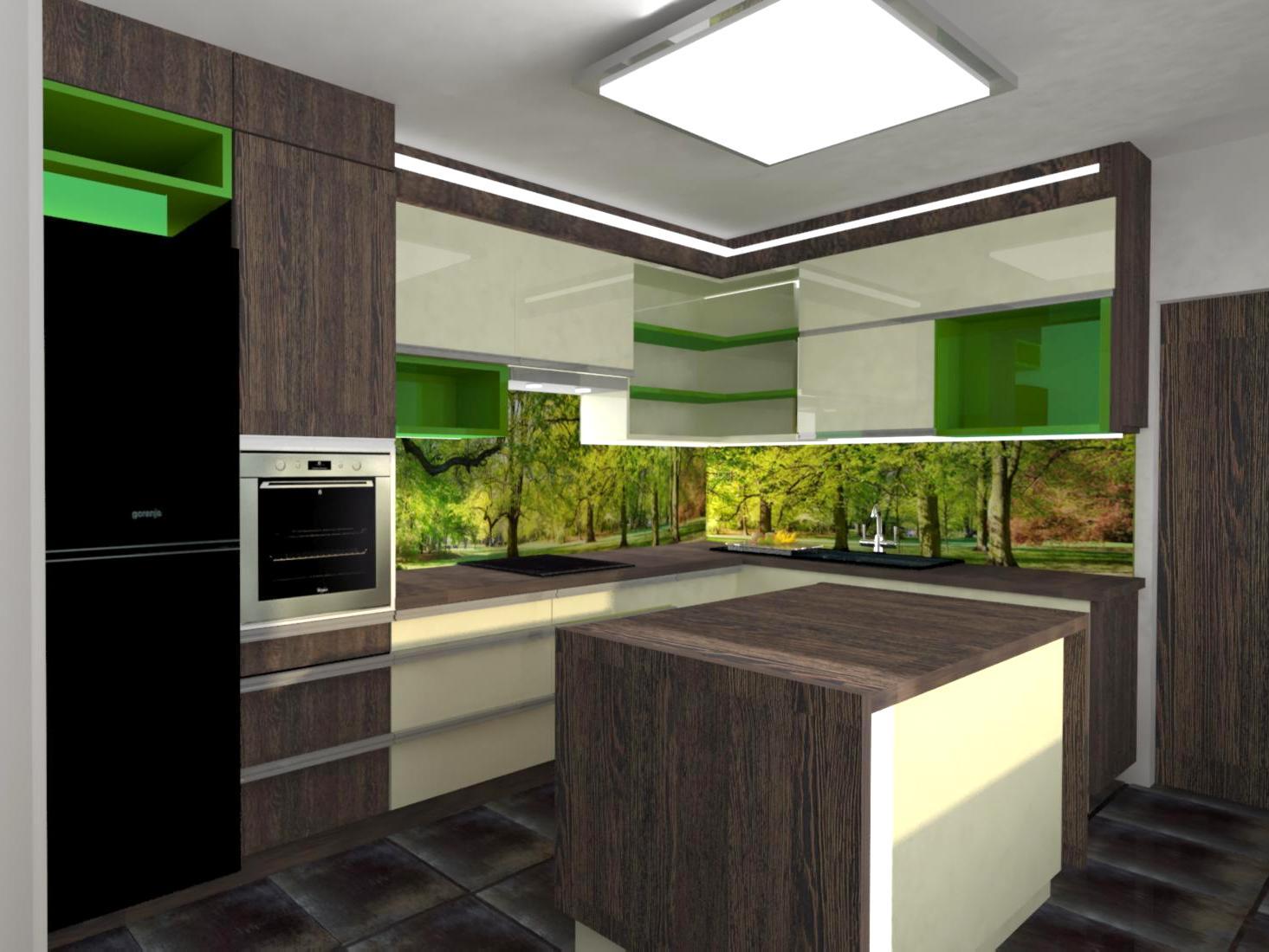 Kuchyň s fotosklem