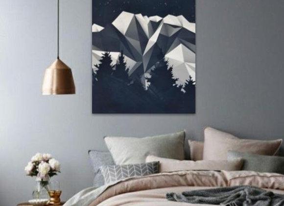 Origami Mountain 70x85