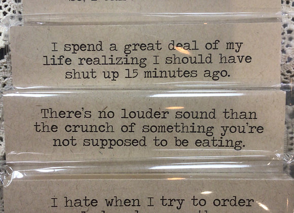Snarky Notepads and Signs