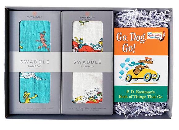 Go, Dog, Go !  Swaddle & Story Gift Set
