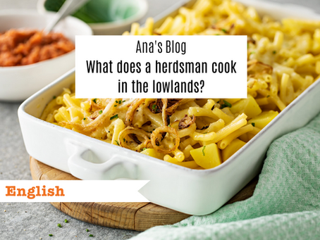 What does a herdsman cook in the lowlands?