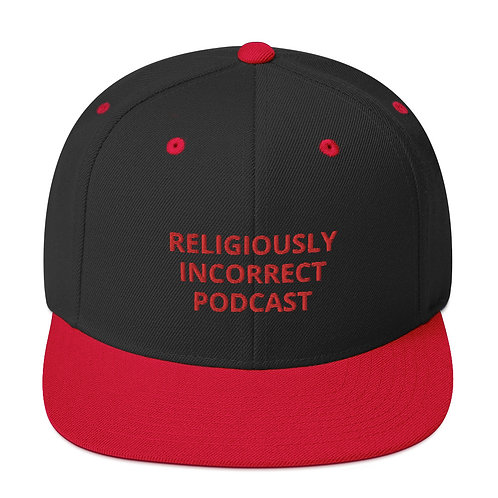 Religiously Incorrect Podcast Snapback Black/Red