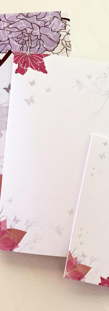 papelaria lilás