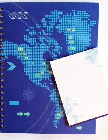caderno mapa pixel