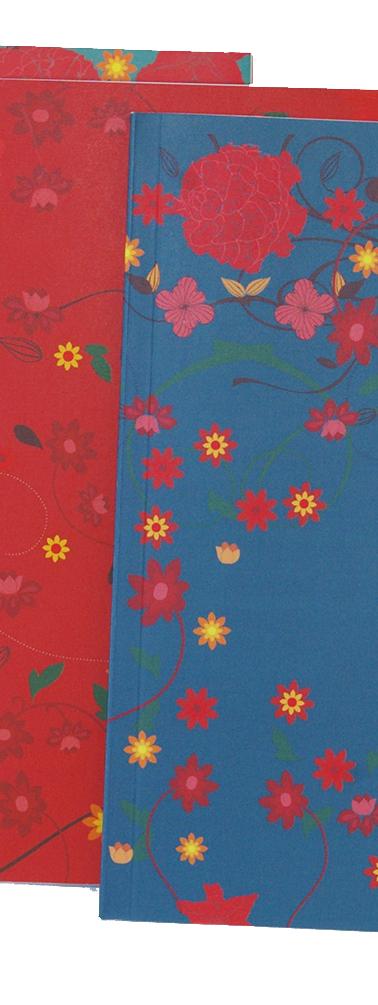 cadernetas flor oriente