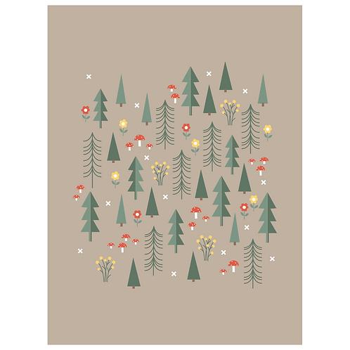 folk forest art print - SKU 1652