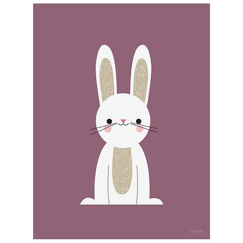 bunny art print - grape - digital download