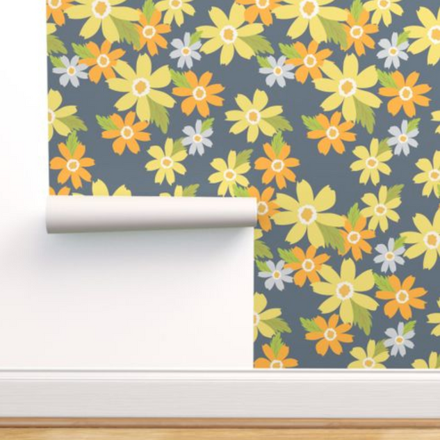 melimba YELLOW FLORAL NAVY