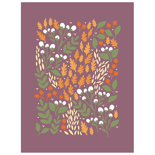 pom and cotton floral - grape