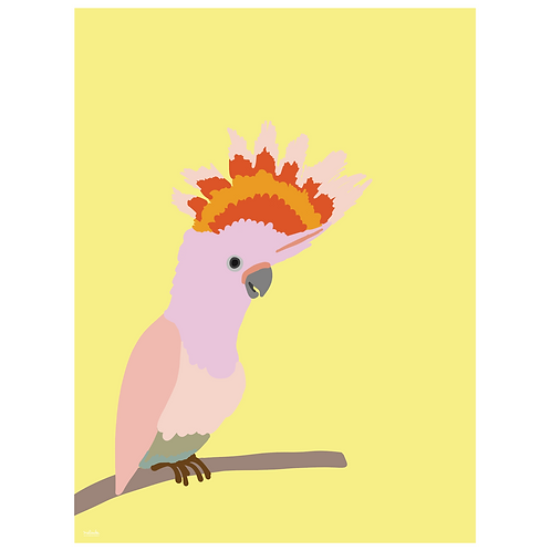 cockatiel art print - yellow - digital download