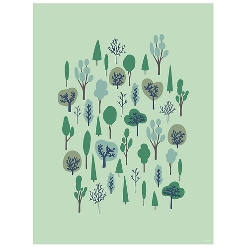 funky forest art print - SKU 1631