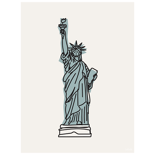statue of liberty art print - dirty white - digital download
