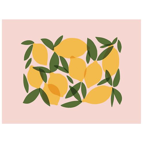 mod lemons - pink