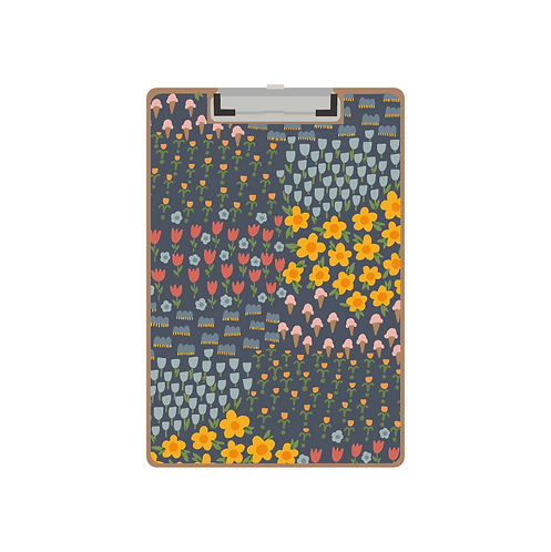CLIPBOARD signs of spring navy pattern