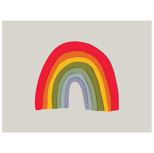 rainbow art print - grey - digital download