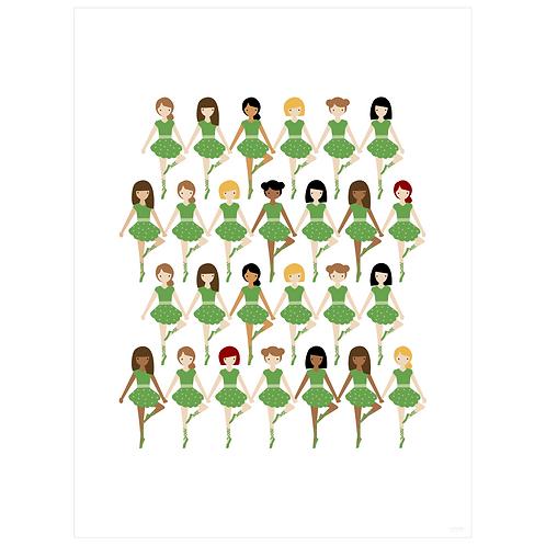 tiny dancer art print - green - digital download