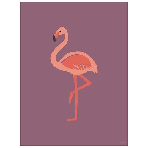flamingo art print - grape - digital download