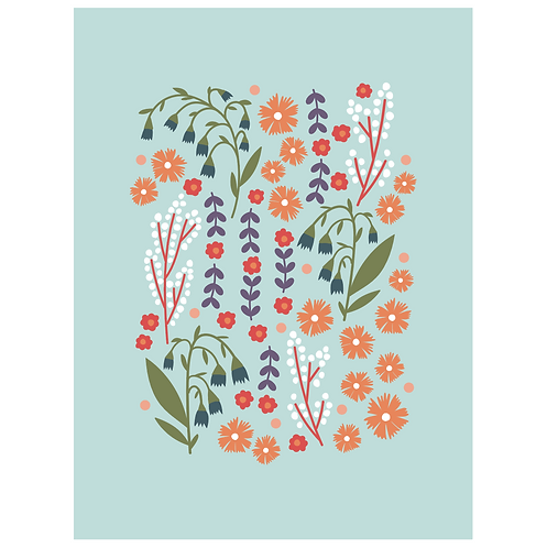 lillies valley floral mix - mint